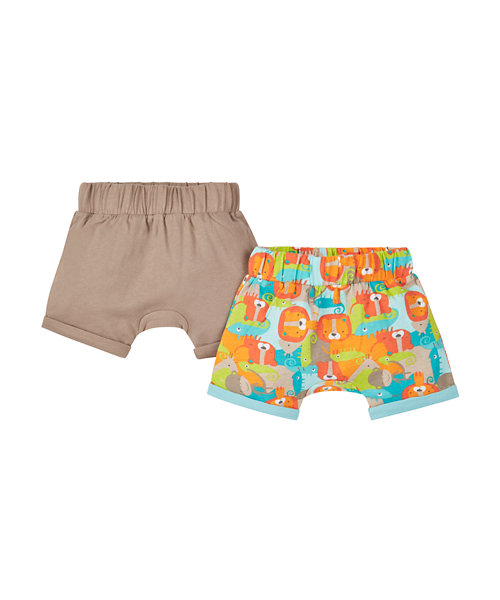 Stone and Animal Print Shorts - 2 Pack