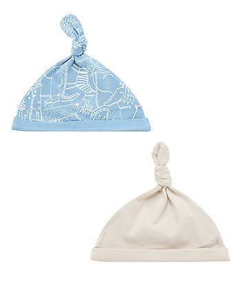 Animal and Plain Hats - 2 Pack