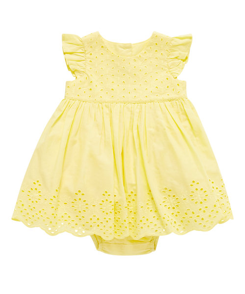 Broderie Yellow Summer Dress with Knickers