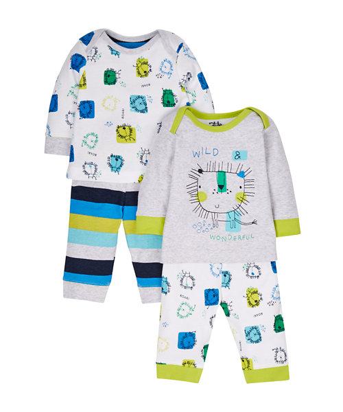 Lion Pyjamas - 2 Pack