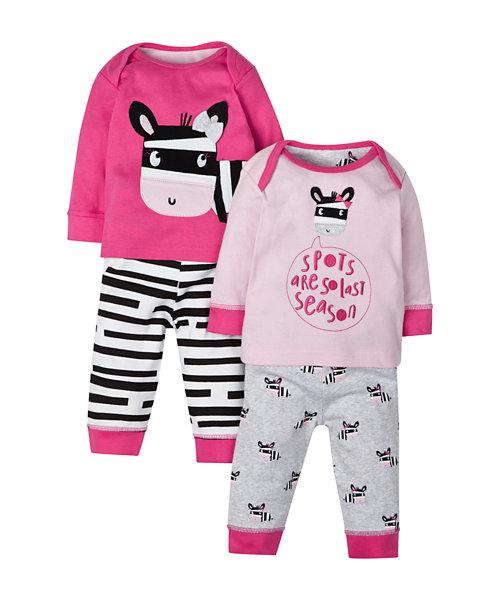 Zebra Pyjamas - 2 Pack