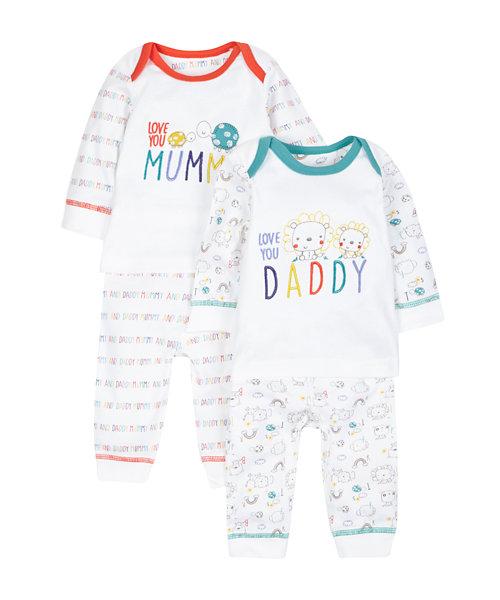 Mummy and Daddy Pyjamas -2 Pack
