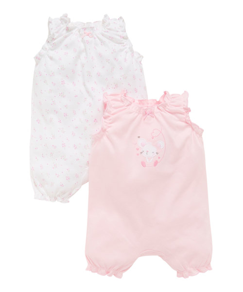Little Ballerina Rompers - 2 Pack