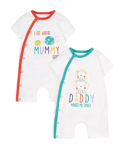 Mummy and Daddy Romper - 2 Pack