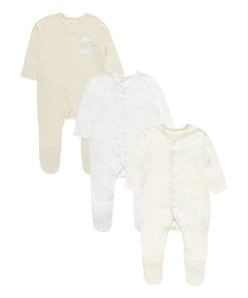 Little Giraffe Sleepsuits - 3 Pack