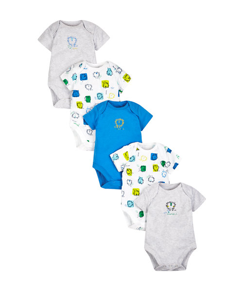 Lion Bodysuits - 5 Pack