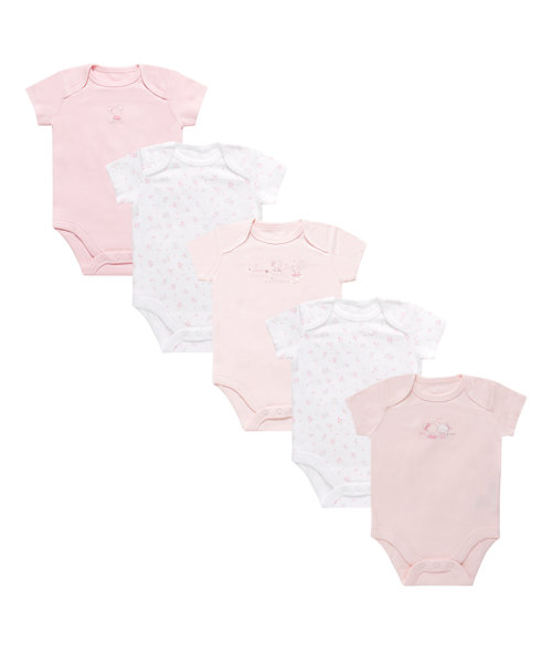 Pink Bodysuit - 5 Pack