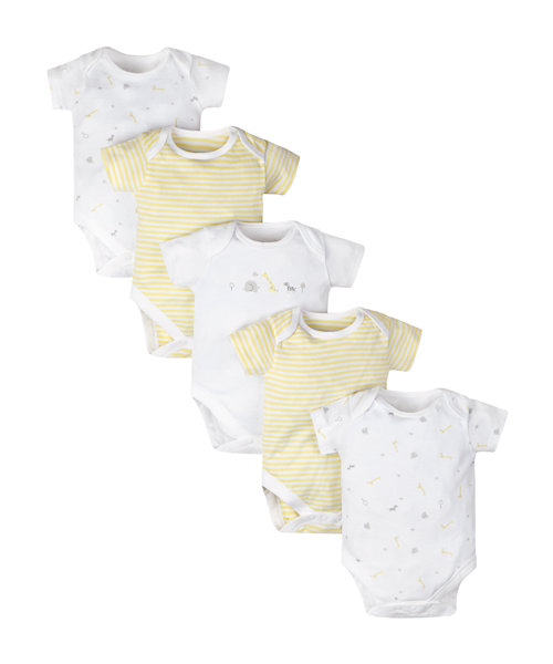 Elephant Bodysuits - 5 Pack