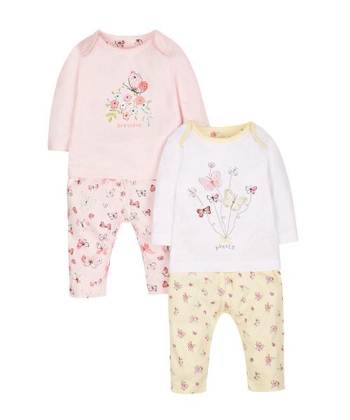 Butterfly Pyjamas - 2 Pack