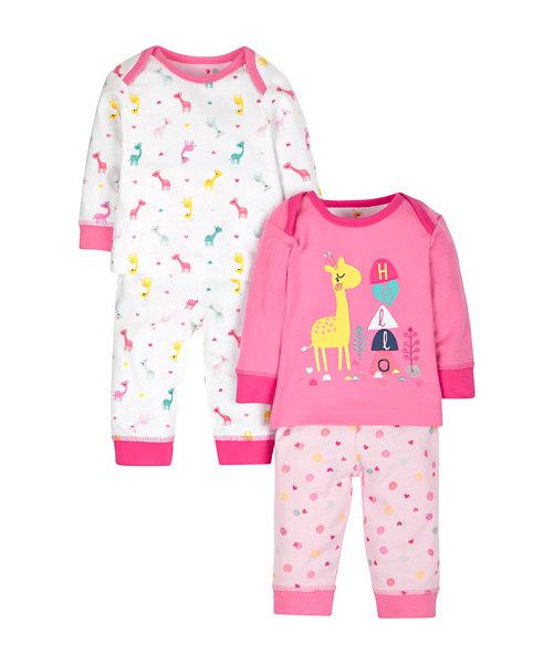 Giraffe Pyjamas - 2 Pack