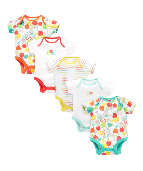 Happy Bug Bodysuits - 5 Pack