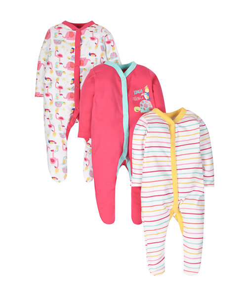 Tropical Sleepsuits - 3 Pack