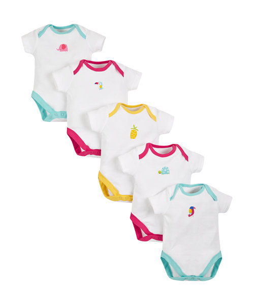 Tropical Bodysuits - 5 Pack