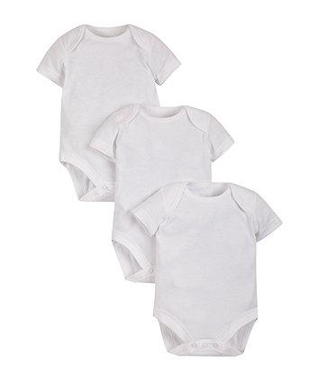 DreamSkin Short Sleeve Bodysuits for Sensitive Skin - 3 Pack