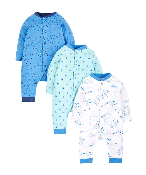 Sleepsuits - 3 Pack