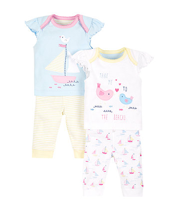 Stripe and Boat Pyjamas - 2 Pack