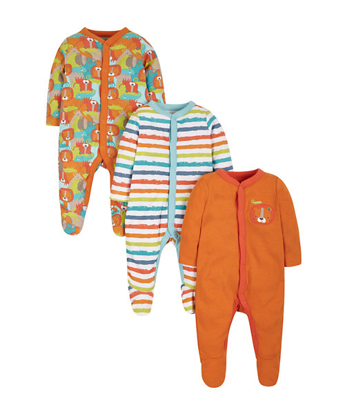 Crazy Safari Sleepsuits - 3 Pack