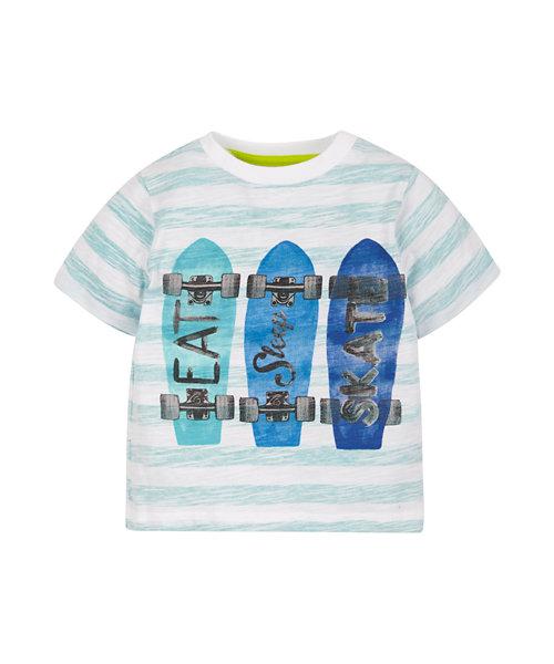 Digital Stripe Skateboard Graphic T-Shirt