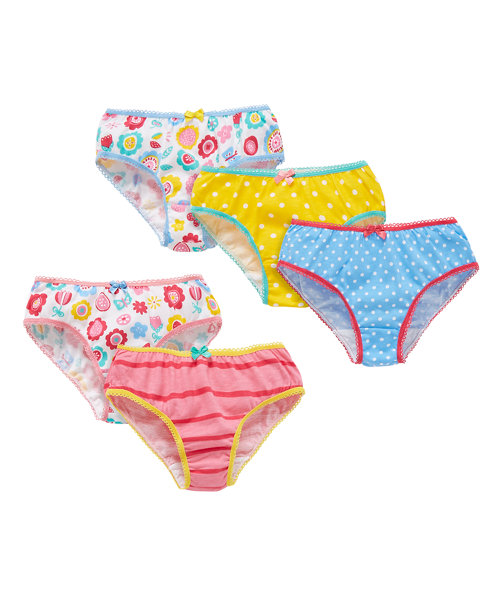 Floral, Stripe and Spot Briefs - 5 Pack