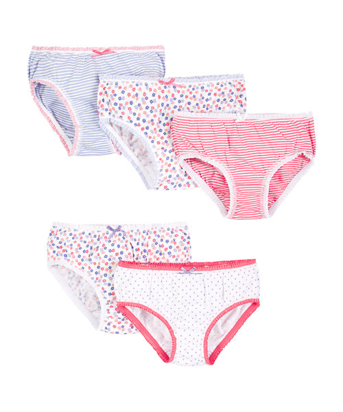 Mothercare Floral Print Briefs - 5 Pack