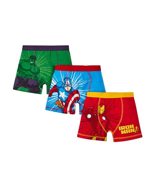 Superhero Trunks - 3 Pack
