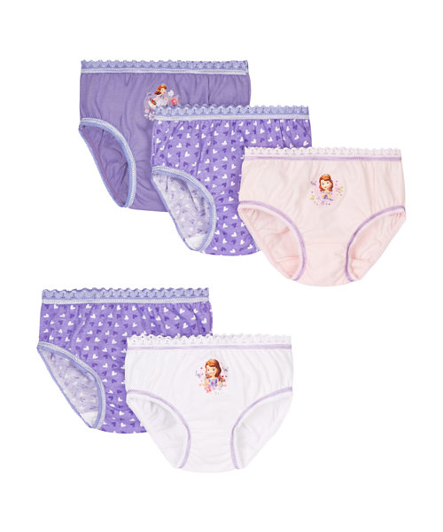 Sofia The First Briefs - 5 Pack