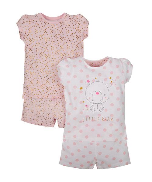 Little Bear Shortie Pyjamas - 2 Pack