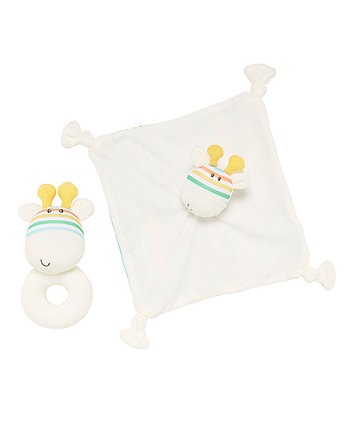 Roll Up Roll Up Giraffe Comforter And Rattle Gift Set