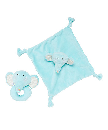 Roll Up Roll Up Elephant Comforter And Rattle Gift Set