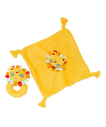 Roll Up Roll Up Lion Comforter And Rattle Gift Set