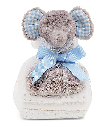 Mothercare My First Elephant Comforter And Muslin Gift Set