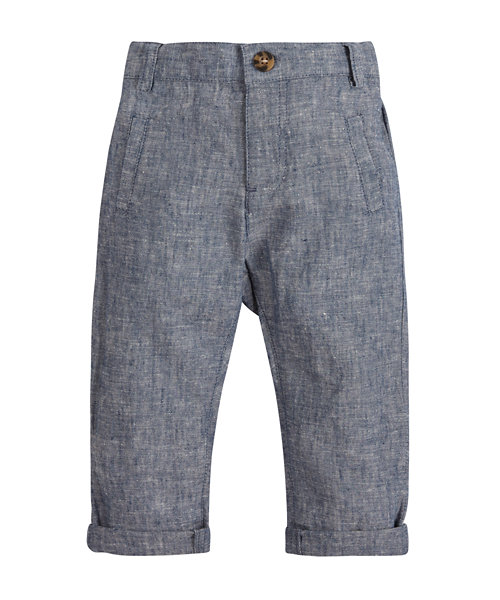 Linen Turn Up Trousers