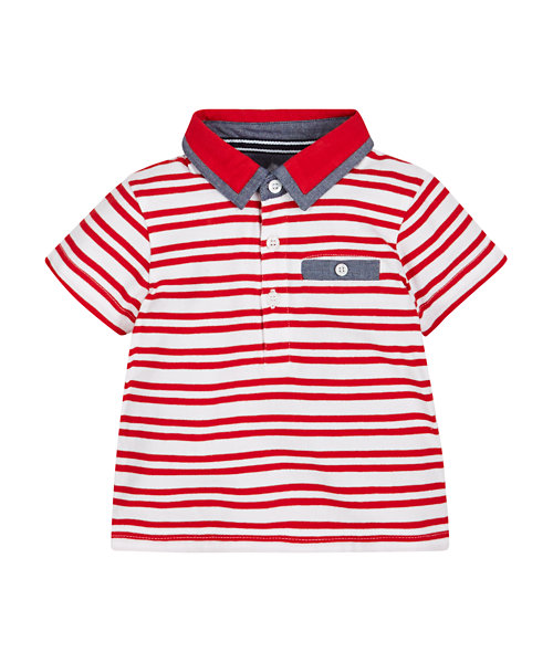 Stripe Polo Top