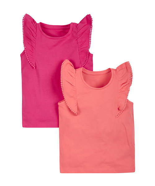 Pink and Coral Vests - 2 Pack