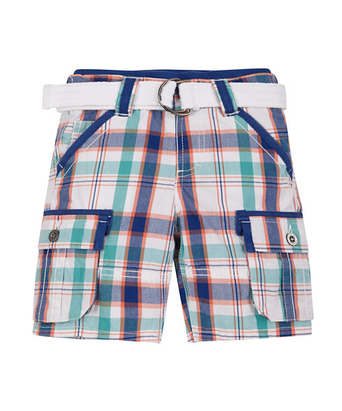 Check Shorts with Belt