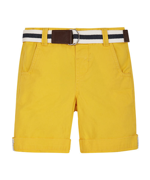 Yellow Peached Belted Short