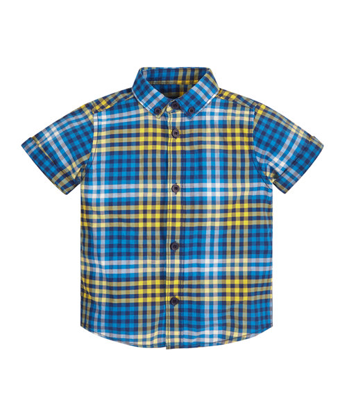 Blue and Yellow Checked Shirt