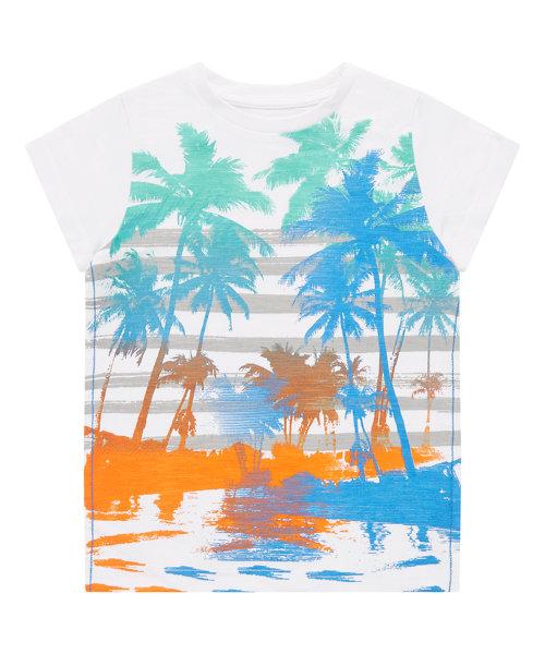 Striped Palm Tree T-Shirt