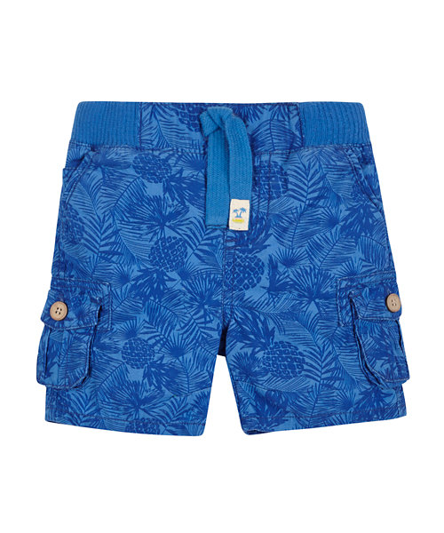 Ribwaist Blue Cargo Shorts
