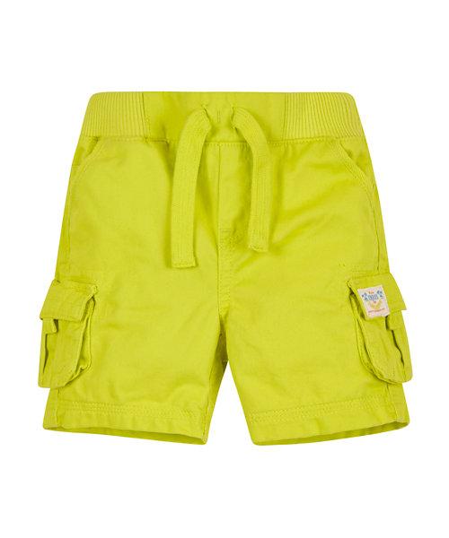 Ribwaist Lime Cargo Shorts
