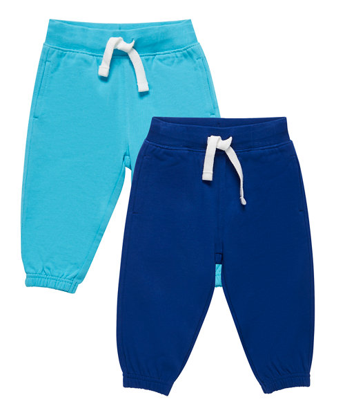 Navy and Turquoise Joggers - 2 Pack