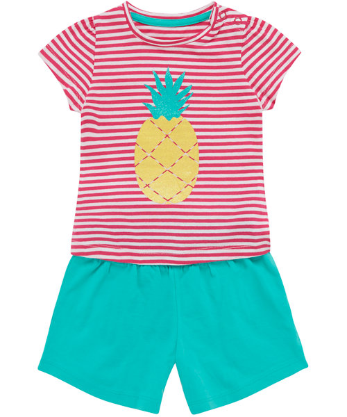 Pineapple T-Shirt and Shorts Set