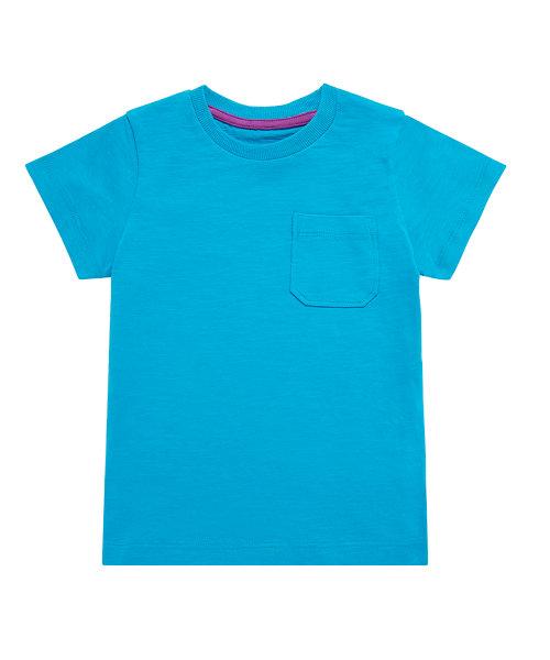 Blue Slub Pocket T-Shirt
