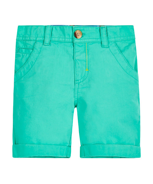 Green Peached Twill Short