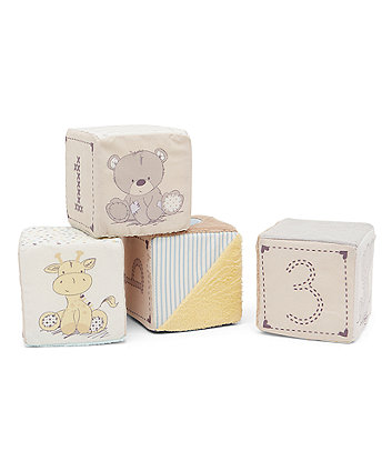 Mothercare Teddy's Toy Box Soft Cubes
