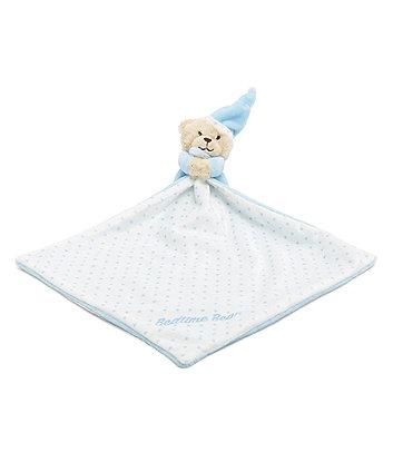 Mothercare Blue Bedtime Bear Blankie