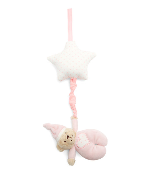 Mothercare Bedtime Bear Pink Musical Pull