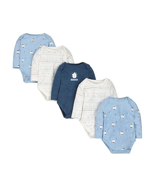 Polar Bear Bodysuits - 5 Pack