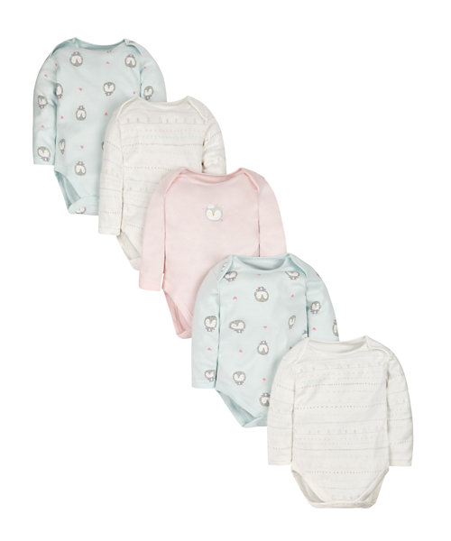 Little Penguin Bodysuits - 5 Pack