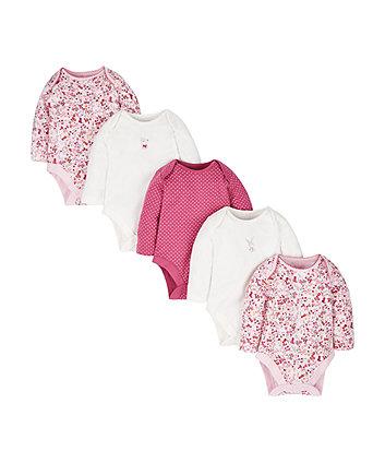 Bunny Bear Bodysuits - 5 Pack